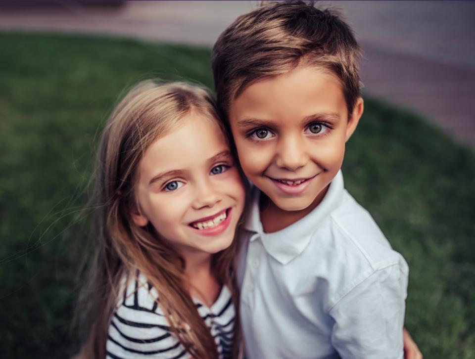 Enfants souriants à la clinique dentaire Ste-Rose